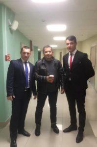 Фотогрфия Николая Расторгуева с охранниками ГК «Патриот»