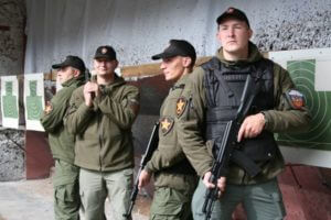 Фотография сотрудников ЧОП «Патриот» в обмундировании