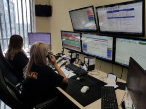 Фотография диспетчерской пультовой охраны